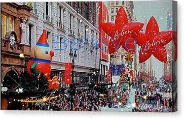 Believe Parade Canvas Print by ARTography by Pamela Smale Williams