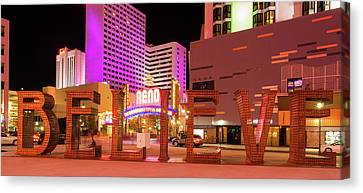 Canvas Print featuring the photograph Believe Reno Nevada by Scott McGuire