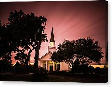 Belin Memorial Umc Sunset Canvas Print