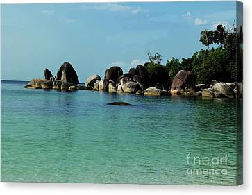 Pyrography Canvas Print - Belitung Island by Andy Maryanto