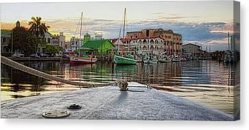 Belize City Harbor Canvas Print by Tatiana Travelways