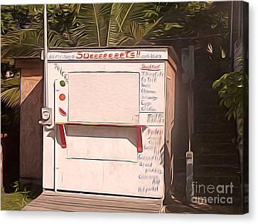 Belize - Sidewalk Breakfast Stand Canvas Print