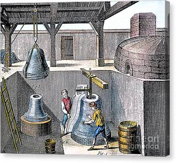 Bell Casting, 1763 Canvas Print