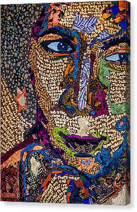 Canvas Print featuring the tapestry - textile Bell Hooks Unscripted by Apanaki Temitayo M