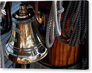 Bell On Schooner Virginia Canvas Print by Gene Sizemore