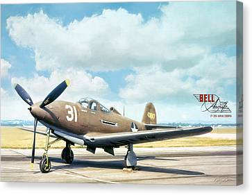 Bell P-39 Airacobra Canvas Print by Peter Chilelli