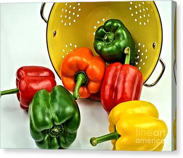 Bell Peppers Canvas Print by Jimmy Ostgard