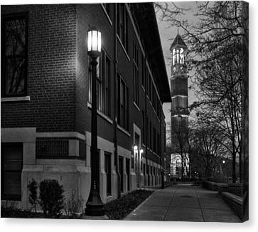 Bell Tower At Night Canvas Print by Coby Cooper