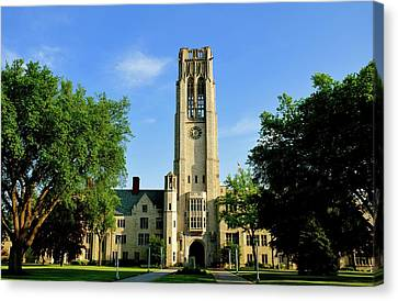 Bell Tower At The University Of Toledo Canvas Print