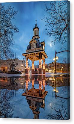 Bell Tower  In Beaver  Canvas Print by Emmanuel Panagiotakis