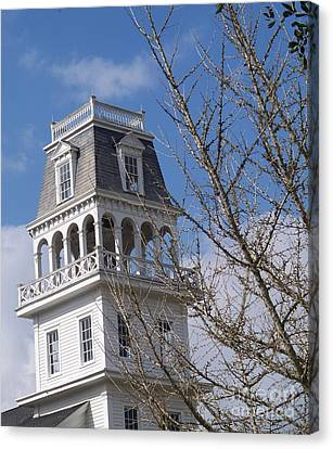 Bell Tower Of St. Charles Borromeo In Grand Coteau Canvas Print by Seaux-N-Seau Soileau