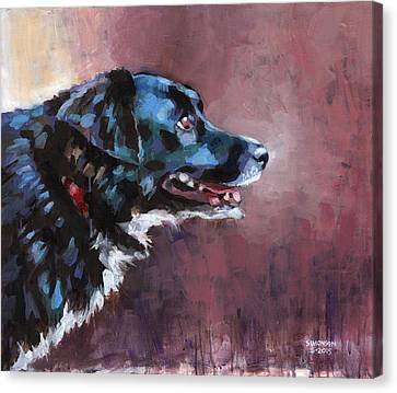 Cattle Dog Canvas Print - Bella by Douglas Simonson