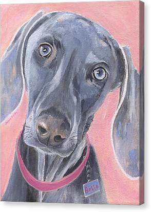 Canvas Print featuring the painting Bella by Jamie Frier