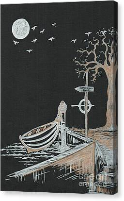 Bella Lunar Point Canvas Print