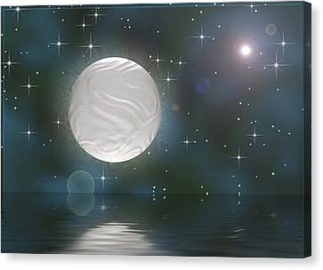 Canvas Print featuring the digital art Bella Luna by Wendy J St Christopher