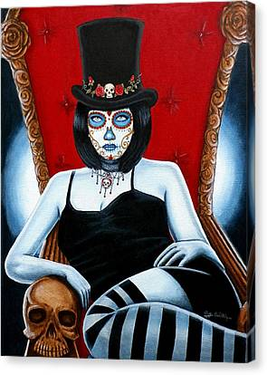 Canvas Print featuring the painting Bella Muerte 2016 by Al  Molina