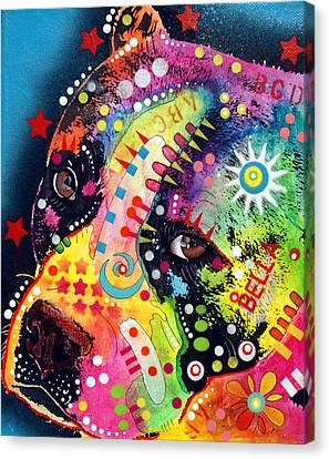 Bella Pitbull Canvas Print by Dean Russo