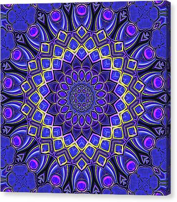 Canvas Print featuring the digital art Bella - Purple by Wendy J St Christopher