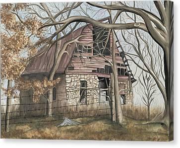 Bella Vista Barn Canvas Print by Patty Vicknair