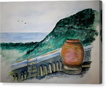 Bella Vista, Cumae Italy Canvas Print