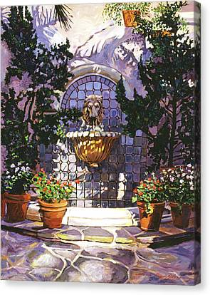 Bellagio Fountain Canvas Print by David Lloyd Glover