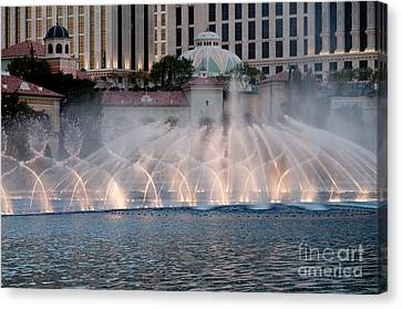 Bellagio Fountain Patterns 1 Canvas Print by Andy Smy