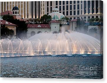 Bellagio Fountain Patterns 2 Hotel Casino Fountains Las Vegas Nevada Canvas Print by Andy Smy