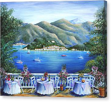 Bellagio From The Cafe Canvas Print