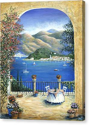 Bellagio Lake Como From The Terrace Canvas Print by Marilyn Dunlap