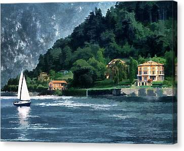 Bellagio Villa Canvas Print by Jim Hill