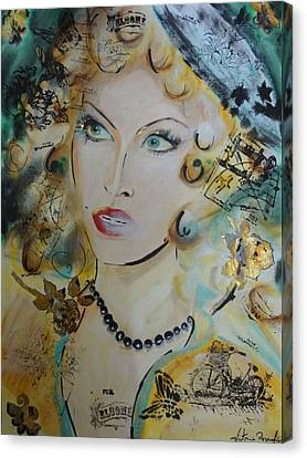 Belle De Nuit Canvas Print by Victoria Rosenfield