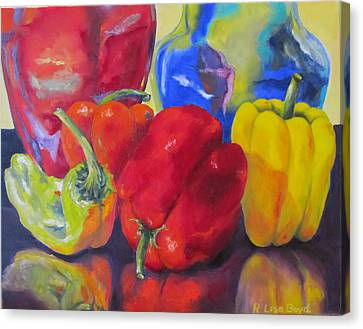 Belle Peppers Canvas Print by Lisa Boyd