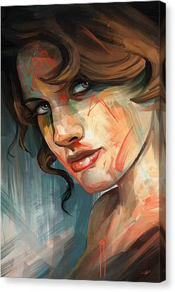 Canvas Print featuring the digital art Belle by Steve Goad