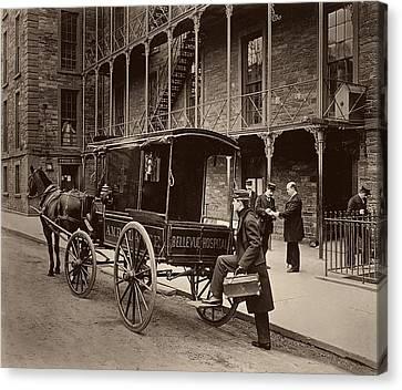 Bellevue Hospital Ambulance 1895 Canvas Print by Mountain Dreams