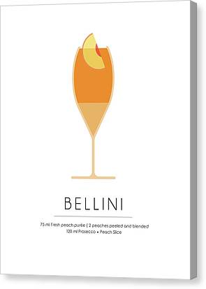 Bellini Classic Cocktail - Minimalist Print Canvas Print