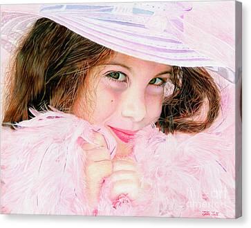 Beauty Mark Canvas Print - Bellla Baby by Peter Piatt