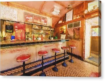 Bellows Falls Diner Canvas Print