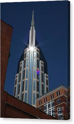 Canvas Print featuring the photograph Bellsouth Tower - Nashville Tennessee by John Black