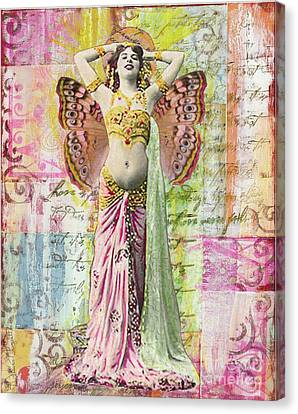 Canvas Print featuring the mixed media Belly Dancer by Desiree Paquette