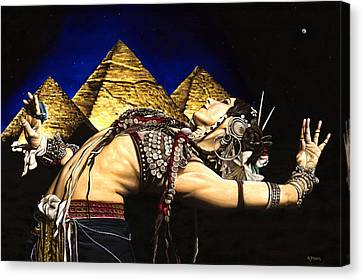Belly Canvas Print - Bellydance Of The Pyramids - Rachel Brice by Richard Young