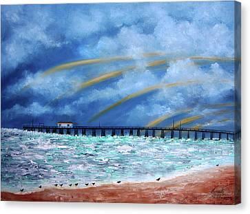 Belmar's Fishing Pier Canvas Print