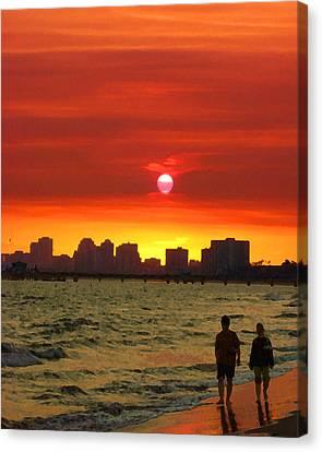 Belmont Shore Sunset Canvas Print