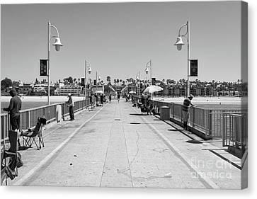 Belmont Veterans Memorial Pier 3 Canvas Print