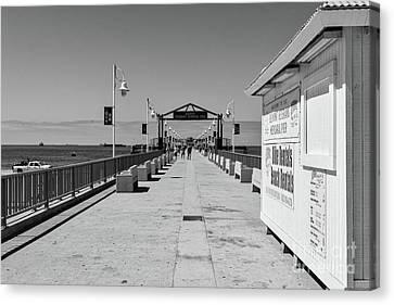 Belmont Veterans Memorial Pier Canvas Print