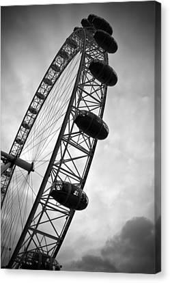 London Eye Canvas Print - Below London's Eye Bw by Kamil Swiatek