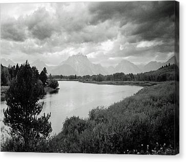 Below The Tetons Canvas Print