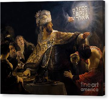 Belshazzar's Feast, By Rembrandt, Circa 1636-8,  National Galler Canvas Print by Peter Barritt
