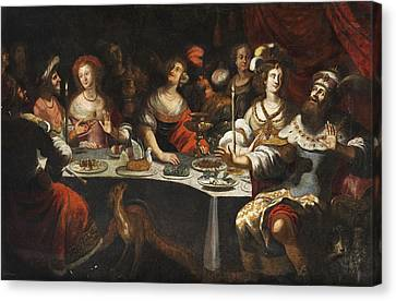 Belshazzar's Feast Canvas Print by Circle of Bartholomeus Strobel the Younger
