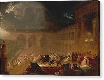 Belshazzar's Feast Canvas Print by John Martin