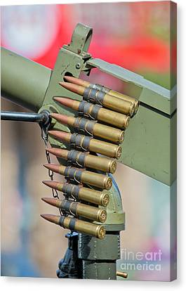 Canvas Print featuring the photograph Belt Of Rounds by Chris Dutton